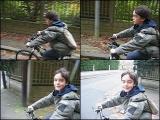 Antoine sur son vélo [1,50Mo]