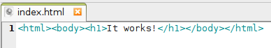 fichier index.html